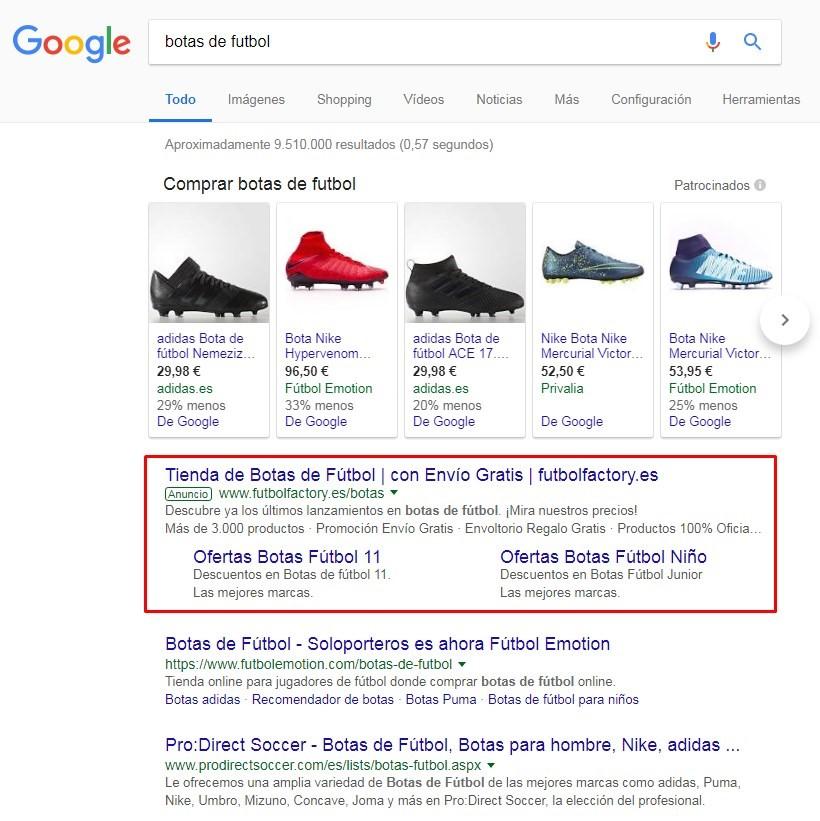 campaña adwords solo red búsqueda