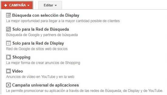 tipos de campaña google ads dxmedia